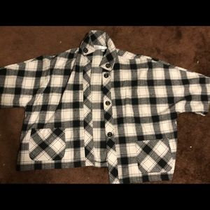 Cold water creek 2x flannel shirt jacket